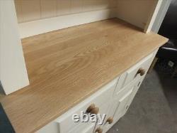 Hampshire Painted 2 Door Open Top Display Dresser Solid Pine Solid Oak