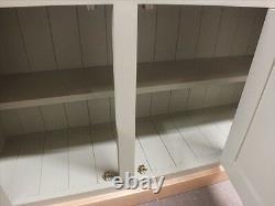 Hampshire Painted 3 Door Open Top Display Dresser- Solid Oak Top- Sur Mesure