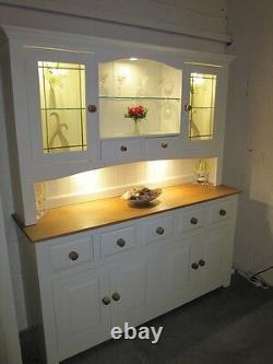Hampshire Peint 4 Porte 5 Tiroir Display Dresser Hand Made Solid Pine Solid Oak