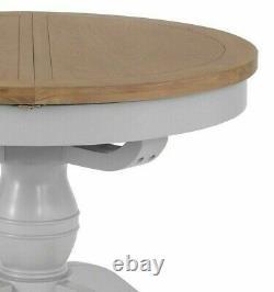 Hartwell Grey 1.1m Papillon Rond Prolongeant Table À Manger Table De Cuisine Circulaire