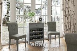 Holburn Grey Large Sideboard / Dark Painted 3 Door Cupboard Wide Storage Armoire