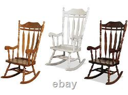 Jay Traditional Solid Wood Carved Rocking Chair Oak Colo Livingroom Conservatory