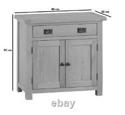 Kingsford Solid Oak Small 2 Porte 1 Tiroir Sideboard / Armoire 85cm 35cm 80cm