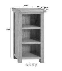 Kingsford Solid Oak Small Narrow Bookcase / Rustique Mini Bookshelf / Unité De Stockage
