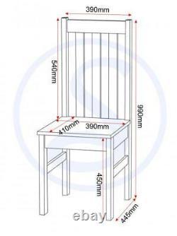 Ludlow White & Oak Effect 6 Places Dining Set, Table & 6 Chaises Nouveau