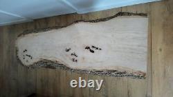 Machine À Manger Table Basse En Bois Massif Dalle Waney Edge Pippy Burr Orme De Chêne Vivant