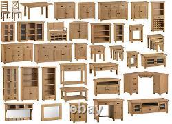 Montréal Chêne 2 Porte Armoire / Rustique Bois Massif Mini Buffet / Slim Cabinet
