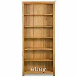 Oak Bookcase DVD Rack Home Book Shelf Cabinet Display Storage Bois Massif En Bois