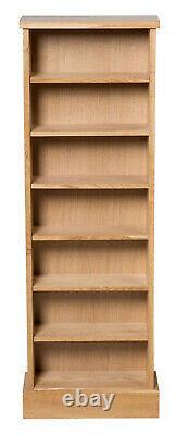 Oak CD Storage Rack Wooden Shelving Tower/holder/stand/unit With 7 Shelves