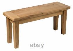Oak Dining Bench Siège En Bois Massif Pour Manger / Table De Cuisine
