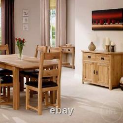 Oak Sideboard Solid Wood Small 2 Door+2 Tiroir Rangement À Manger