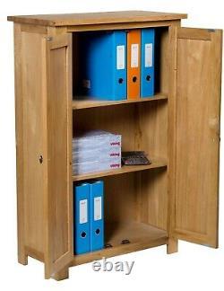 Oak Storage Cupboard Wooden Filing Cabinet Shoe Organisateur Bathroom Unit (en Anglais)