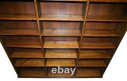 Paire D'immenses Bibliothèques D'études En Chêne Massif Anglais Vers 1880 Bibliothèque Double Face
