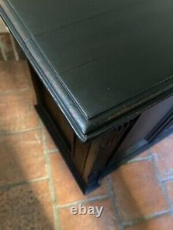 Petit Chêne Solide Gustavian Style Noir Peint Hall Armoire Armoire Buffet