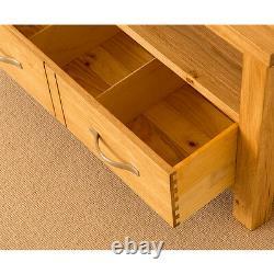 Petit Oak Tv Stand Unit Modern Solid Wood Cabinet Newlyn Living Room Meubles