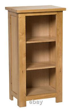 Petite Bibliothèque En Chêne Narrow Storage Low Bookshelf Solid Wood 3 Shelving Unit