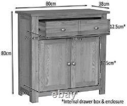 Petite Commode Compacte De Rangement/armoire/armoire En Bois Massif De Panneau De Chêne