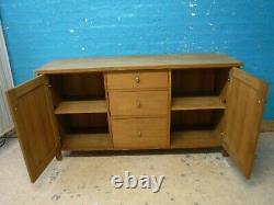 Prochain Solide Oak Wood Wide 3 Drawer Sideboard H81 W150 D45cm- Autres Points Inscrits