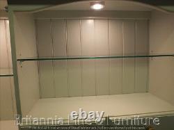 Régence Peinte 6ft 7 Drawer Display Dresser- Solid Oak Top- Sur Mesure- Fabriqué À La Main