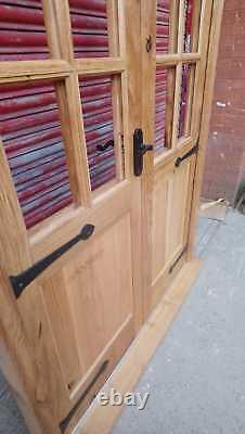 Rustic Solid Oak French Portes Style Géorgien! Vintage! Fait À La Mesure! Sur-le-champ