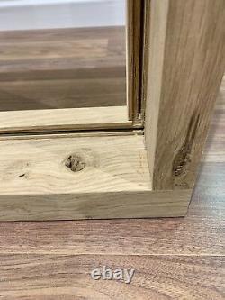 Rustique Oak Window Handcrafted Solid European Oak 750mm X 750mm Shepherds Hut
