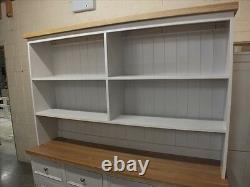 Rutland Peint 6ft Open Top Display Dresser Solid Oak Top &plinthe Handmade