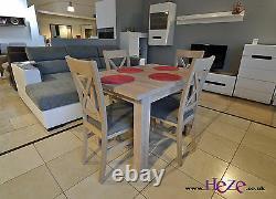 Set D'extension De Table À Manger Sonoma Et 4 Chaises En Bois Massif Petit & Grand! Kam03