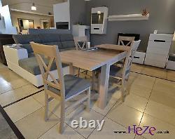 Set D'extension Table À Manger Et 4 Chaises En Bois Massif Small & Strong Kam03