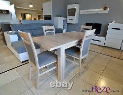 Set D'extension Table À Manger Et 4 Chaises En Bois Massif Sonoma, Petit Et Grand! C'est Le Cas De Kam02.