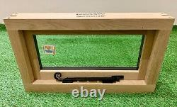Slimline Chêne Fenêtre Artisanale Solide Chêne Européen 600mm X 350mm Woodland Lodge