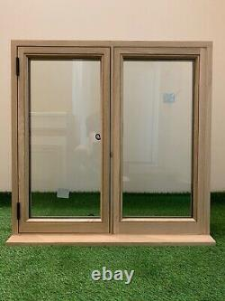 Slimline Oak Window Handcrafted Solid European Oak 900mm Large X 900mm De Haut
