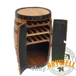 Solide Oak Drink Cabinet Wine Rack Handmade & Recycled From Scotch Whisky Barrel
