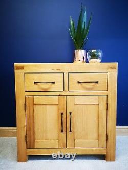 Sydney Modern Chunky Chêne Mini Buffet / Petit Armoire / Solid Oak Cabinet