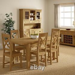 Table À Manger Oakvale Cross / Table De Cuisine Fixe En Bois Massif / 6 8 Seater