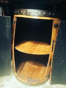 Table De Rangement En Bois De Chêne Massif Recyclé Whisky Barrel Cabinet Archie