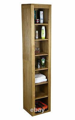 Tall Solid Oak Cabinet Salle De Bains Et Salon Rangement Mobilier Mb-022