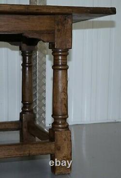 Très Rare Charles I 1630 Chêne Réfectoire Salle À Manger Table, Plaish Hall Shropshire