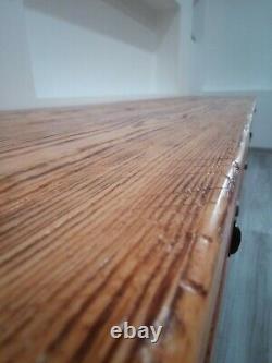 Unité Tv/stand/cabinet/rustic Sur Mesure Bois Massif Industriel Grande 195cm/8 Couleurs