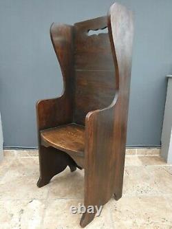 Vintage / Chêne Antique Régler / Majordomes Chaise / Bar / Banc De Pub / Banc Chapelle