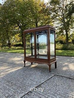 Vintage Solid Wood & Ply Display China Bookcase Drinks Armoire Cabinet